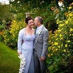 Wedding photo in the garden