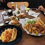 House Sampler, Wings, and Buffalo Mac and Cheese