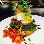 Wild Boar Bacon & Jumbo Prawn Benny