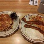 Pancakes, Eggs, Hash Browns & Bacon!