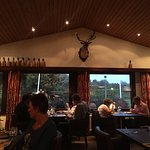 Another view inside restaurant. Note: Mounted Deer's head