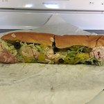 Turkey and swiss, dry with lettuce, jalapenos and banana peppers