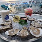 Oysters and drinks