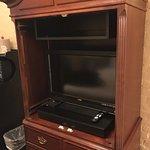 Doors broken and missing from tv cabinet