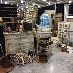We have over 100 booths of home decor, antiques, primitives and much more.