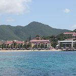 View of the resort from our snorkel boat