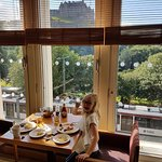 Breakfast with a great view of castle