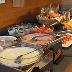 Leckereien vom Frühstücksbuffet