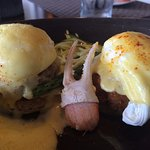 Sunday Brunch at Waterline. Crab Benedict.