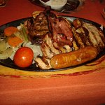 the mixed grill, so big the chips are on a seperate plate