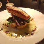Todays special pan fried samon with heritage carrots, tenderstem and crushed new potatoes.