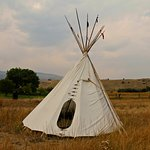 nearby Tipi (Red Indian Tent)