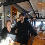Our breakfast waitress & cook. Great getting to know them both. Lubec residents are hardworking.