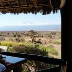 View of Mt. Kilimanjaro from the dining area