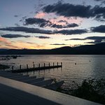 The sunset on Lake Okanagan from my lakeview room!