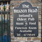 The sign on the Brazen Head