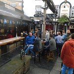 Drinking outside at the Brazen Head