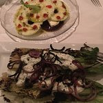 beet salad and grill romain salad= yummy