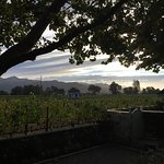 Sunset from the deck of Chateau de Vie