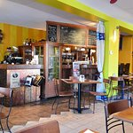 A sneak peek at the inside of this cute bistro