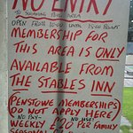 This was the worst of the signs at The Stables Inn: