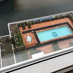 Rooftop pool and hot tub 14 floors below.