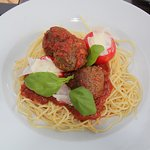 Our Spaghetti and Meatballs - very filling and tasty!