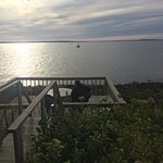 Our private deck, overlooking the ocean