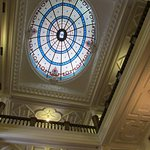 Stained glass roof in foyer