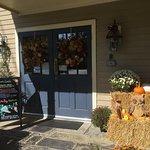 Fall Decorations at Entrance