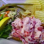 The lobster roll - so yummy and full of overstuffed seafood goodness