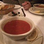 Wonderful dinner  Delicious classic dishes  Colorful and very cozy  Don't miss the tomato cold G