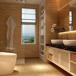 very attractive wash room with bathing facility