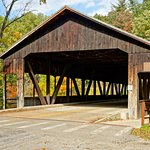 Covered bridge in the park - one of the neat sights in the state park and close to the lodge.