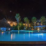 Ilio Mare Pool and Bar at night