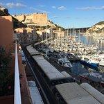 Top Floor with huge Terrasse overlooking Port and Citadelle! Room #404 is the BEST!!! :0)