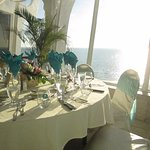 Wedding reception view