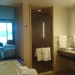 large restroom and living area