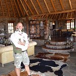 Luca and pal in the main lodge