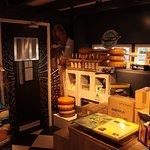 The basement exhibition room