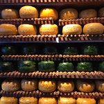 Wheels of cheese at Amsterdam Cheese Museum