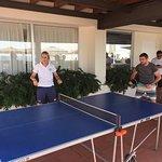 Gary losing badly at Table Tennis
