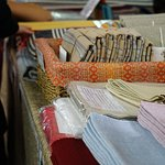 Indoor, hand woven blankets, towels, etc. very good quality.