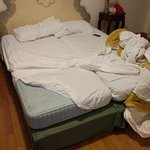 Two single beds, instead of a queen bed