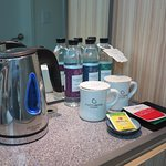 complimentary coffee, tea & bottles of water