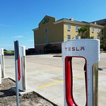 Tesla supercharging station @ Holiday Inn Express & Suites Kingsville only supercharging station