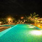Nighttime at Hotel Bocas del Mar, Boca Chica, Panama