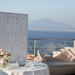 Seating plan with views out to sea