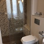 Completely renovated, very modern. Towel warming rack.