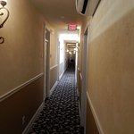 All rooms are off of this long hallway that extends from Whiskey Row to the alley behind.
